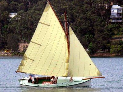 Gaff rig fishing boat