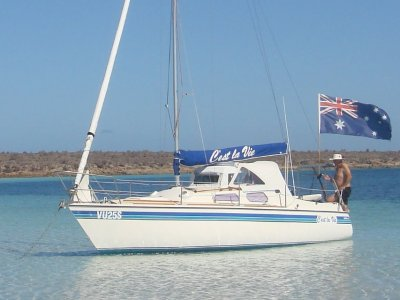 Austral 24 Trailer Sailer Refurbished 7 yrs ago by orignl bldr Adrian Keough