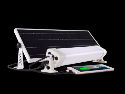 Solar-powered Cabin and Interior Light & Charger for Boats