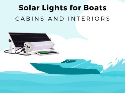 Solar-powered Cabin and Interior Light & Charger for Boats -22w (2500Lumen)