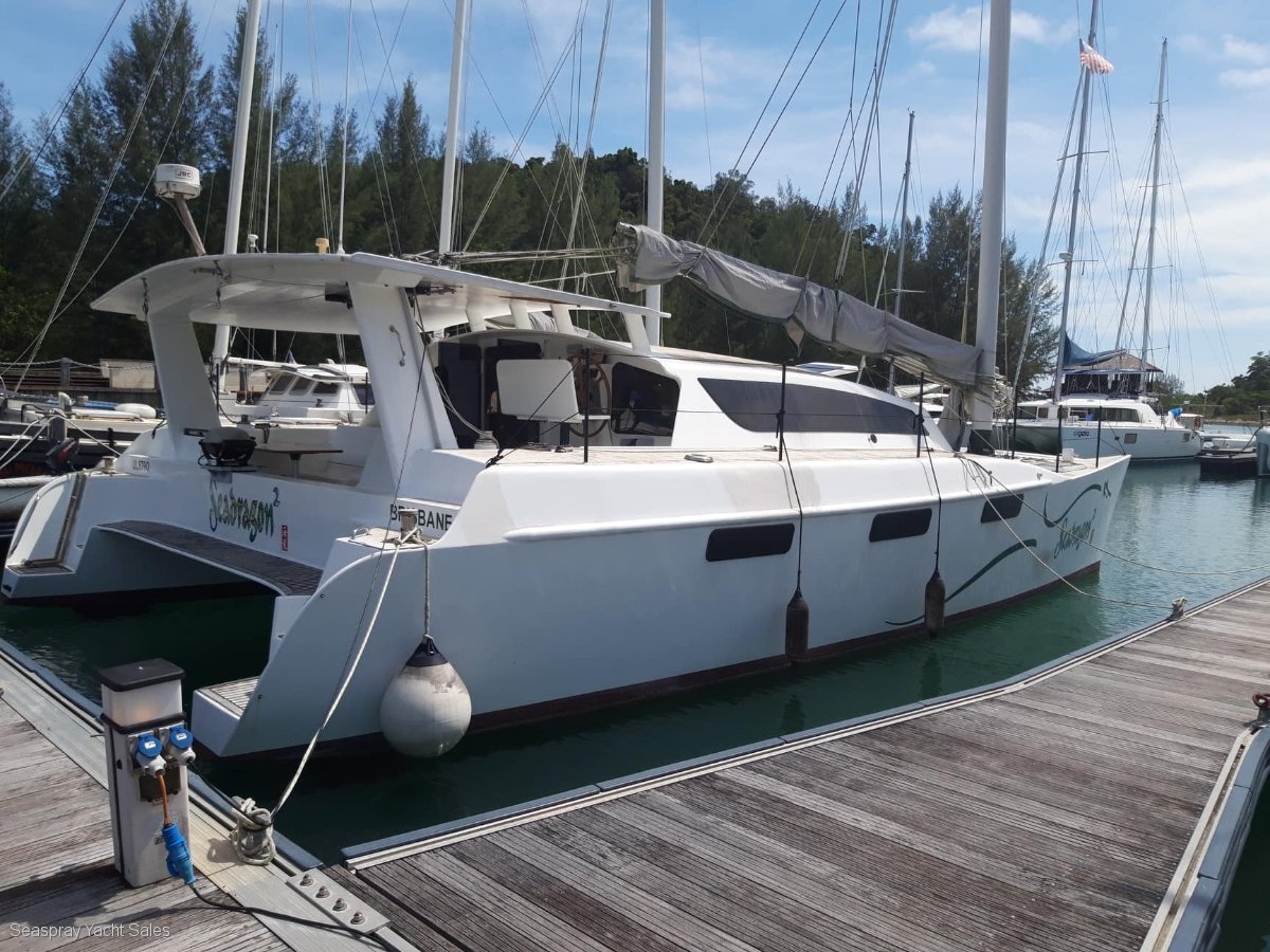 Simpson Sailing Catamaran 12 mtr Junk rigged dual mast for sale in Langkawi