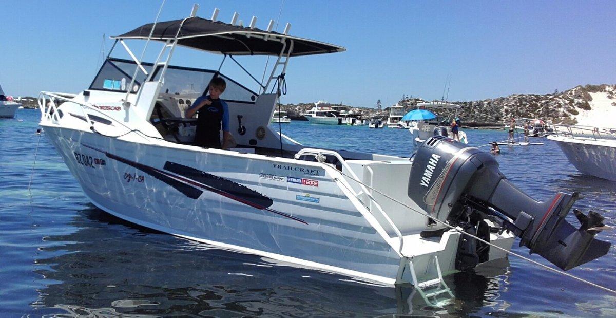 Trailcraft 640 Sportscab Yamaha 150 saltwater series
