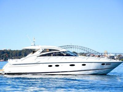 Princess V48 Luxury boat berthed in Lavender Bay