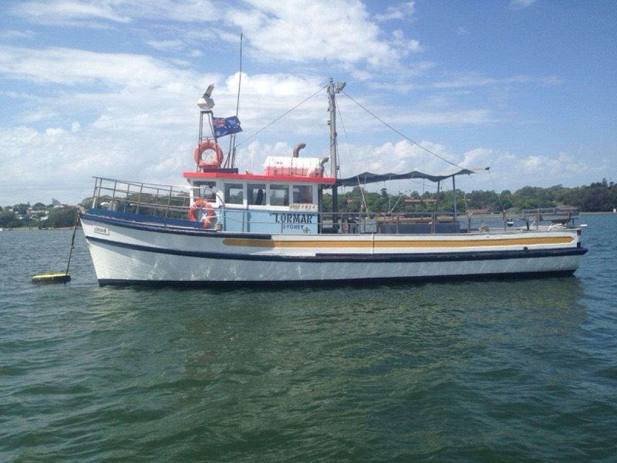 Custom built charter fishing vessel in survey.
