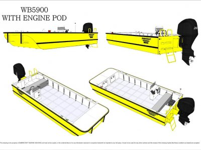 Sabrecraft Marine WB5900 Work Boat Punt - CE Approved