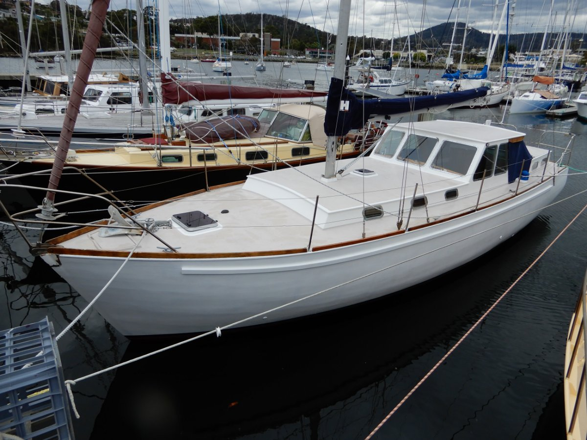 Pilkington Tasmanian Timber Motorsailer 39ft Tassie Designed and Built