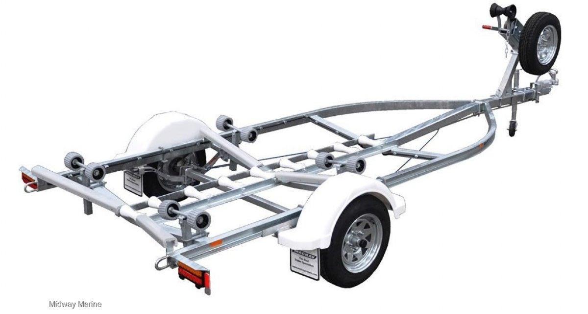 MACKAY MLJ4500 C CHANNEL BOAT TRAILER:Spare wheel not included in price