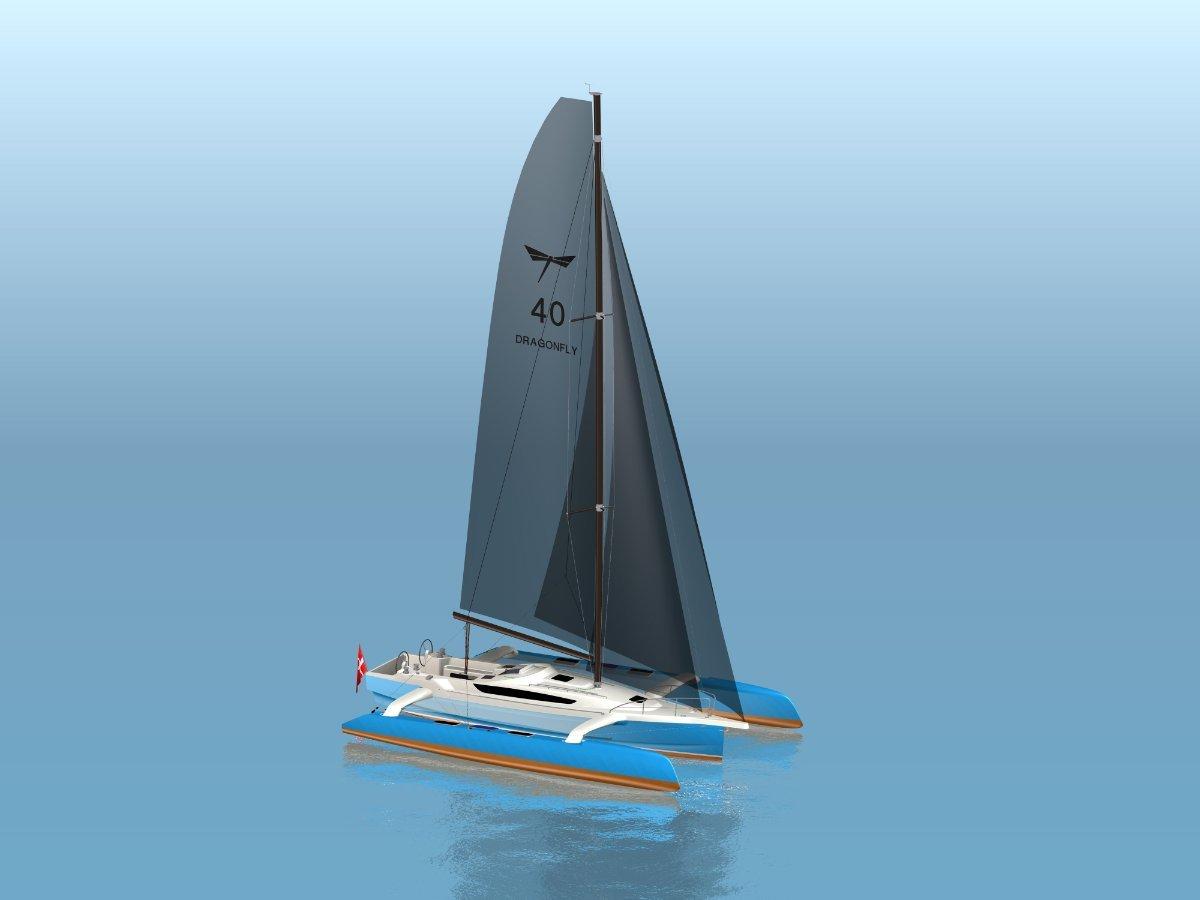 New Dragonfly 40 Sailing Trimaran For Sale Fibreglass Grp Sail