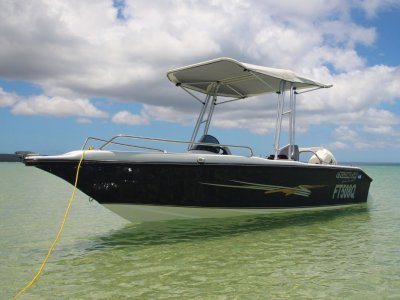 Cyclone 540 Side Console 90hp Etec, Oceanic trailer