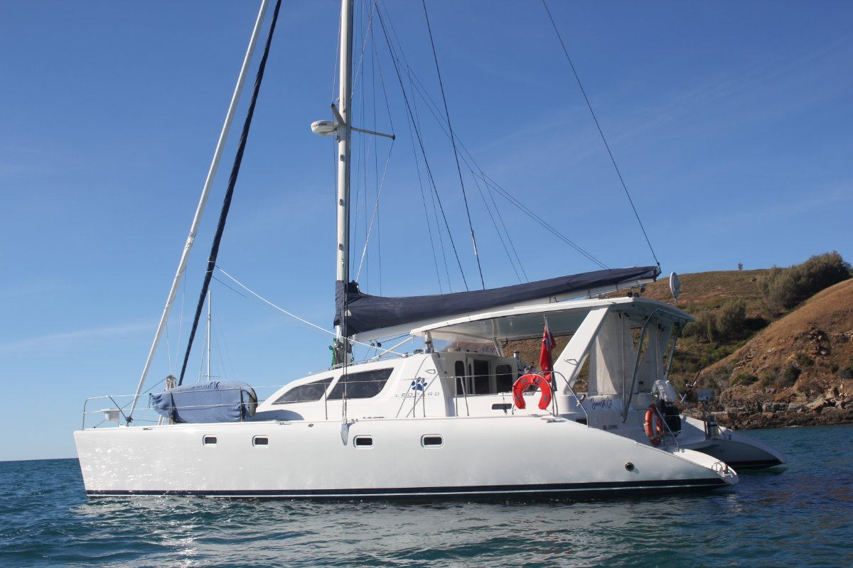 Leopard Catamarans 47:Starboard side