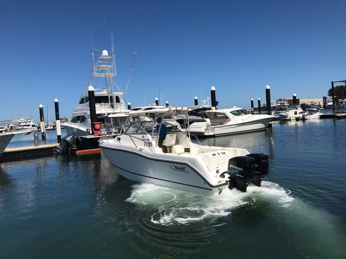 Boston Whaler 255 Conquest 255 Conquest complete with Trailer.