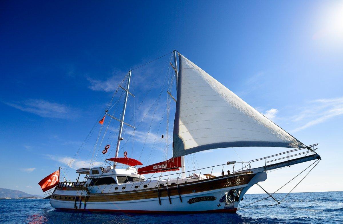 Gulet Mediterranean Custom Wooden Ketch Luxury Yacht, Bodrum