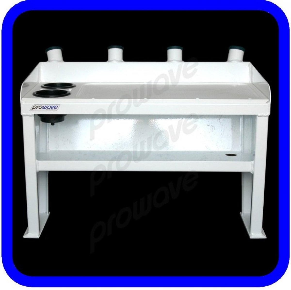 Bait board with shelf, rod holders and drink holders 850 wide
