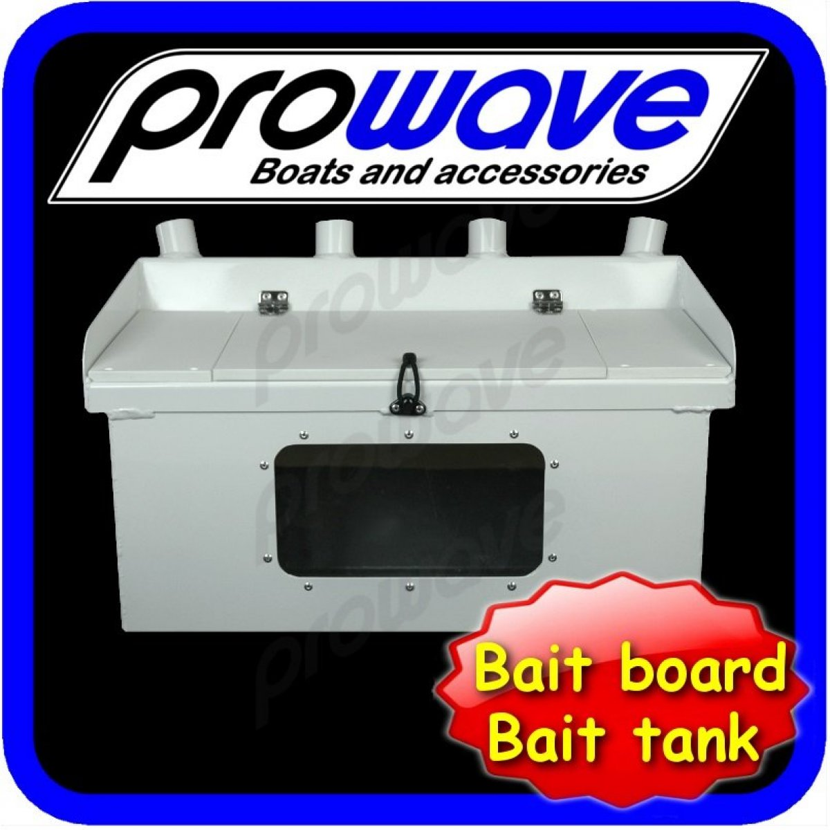 Bait board with bait tank, and rod holders 700w