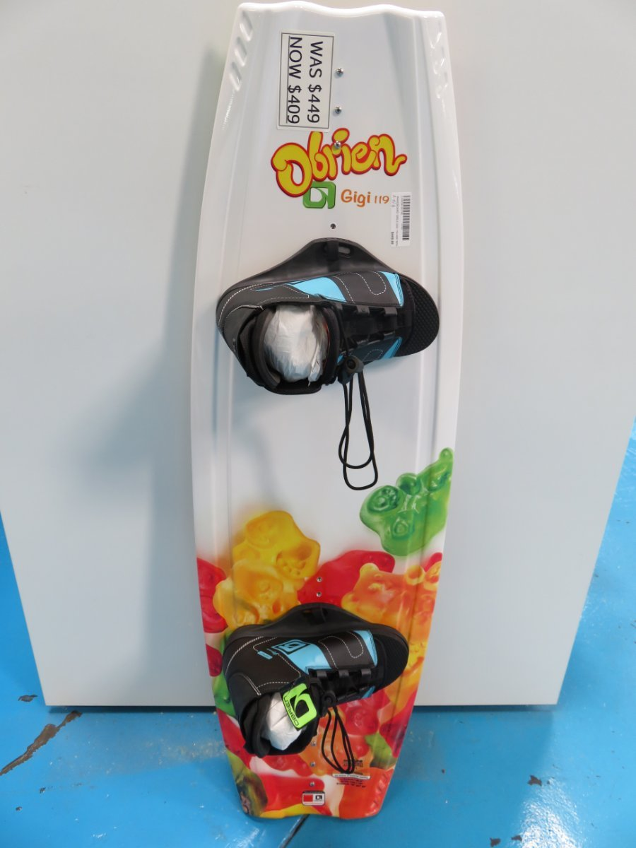 Obrien Gigi 119 kids wakeboard with lace up bindings