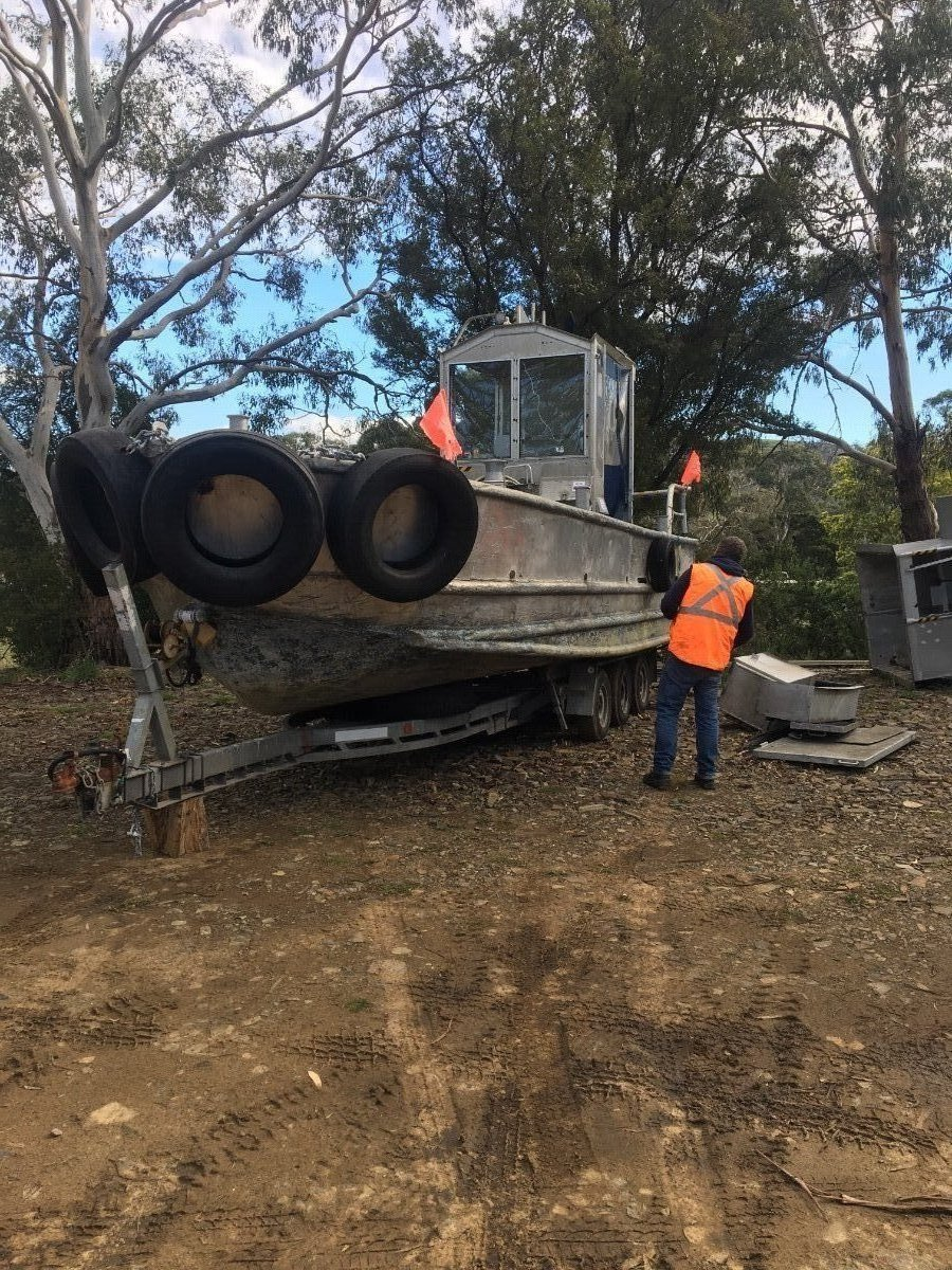 Aluminium work boat in survey sale/lease