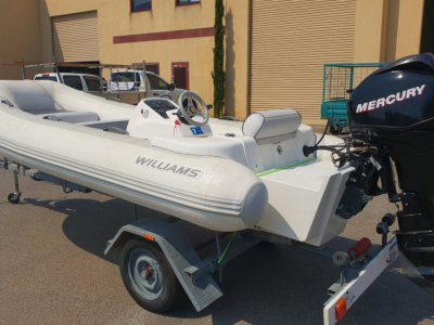 Williams 385 Turbojet 30hp Mercury outboard!! Williams Inflatable