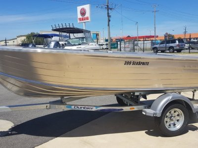Stacer 399 Seasprite 15HP OUTBOARD & DUNBIER TRAILER PACKAGE