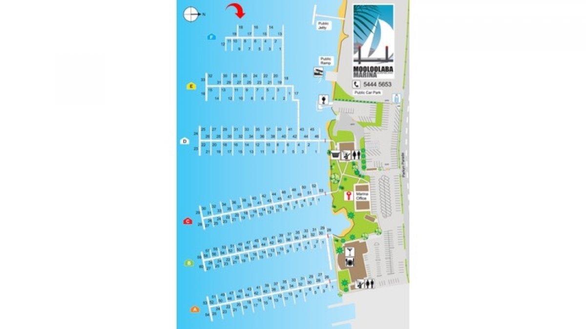 Mooloolaba Marina 15m Multihull Berth For Sale:Mooloolaba Marina Map