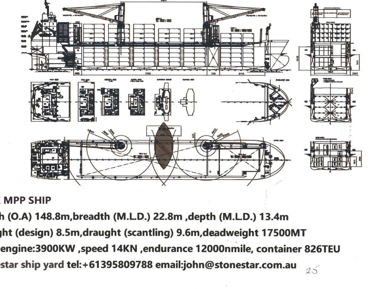 Stonestar Shipyard 7.5k MPP Container ship