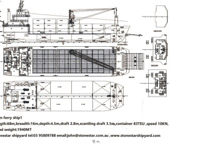 Stonestar Shipyard 68m front load ferry/barge