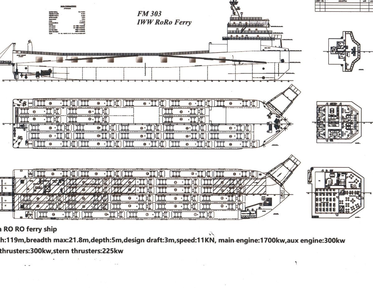 Stonestar Shipyard 119M Roll on Roll off vehickle ferry