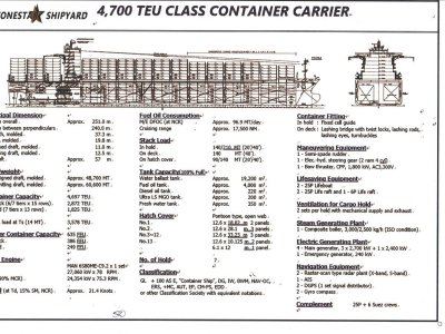 Stonestar Shipyard 4.700 TEU CLASS CONTAINER CARRIER