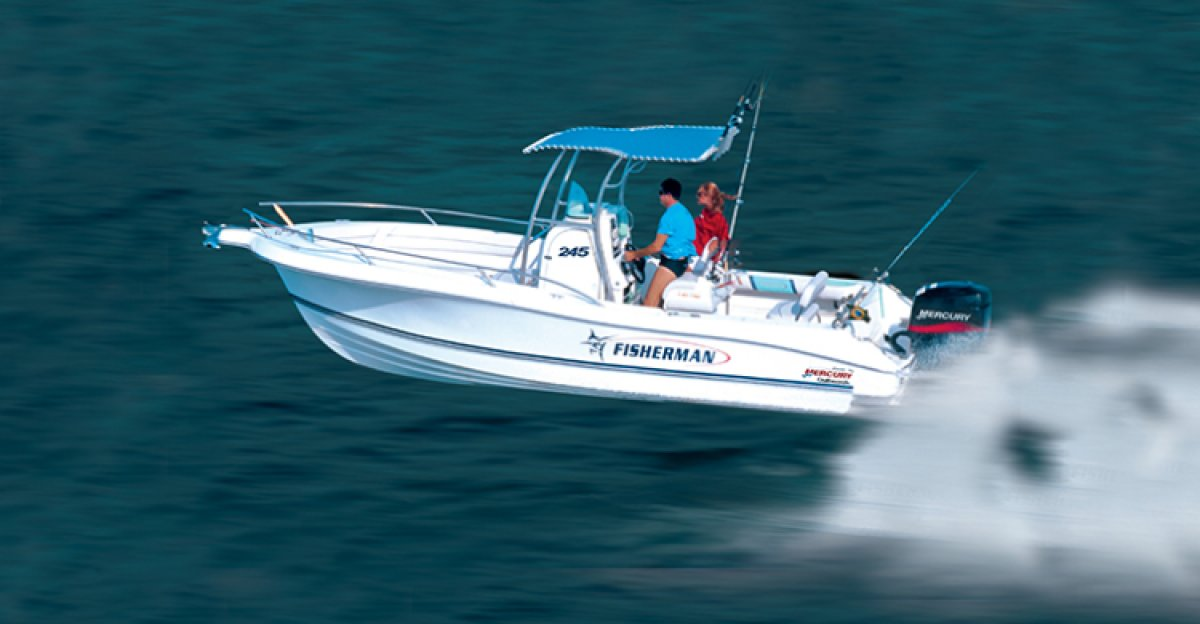 New Fibrafort 245 Fisherman price is for HULL ONLY