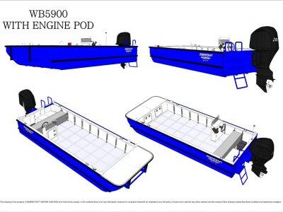 Sabrecraft Marine WB5900 Oyster Farm Fish Farm Workboat Work Boat Punt