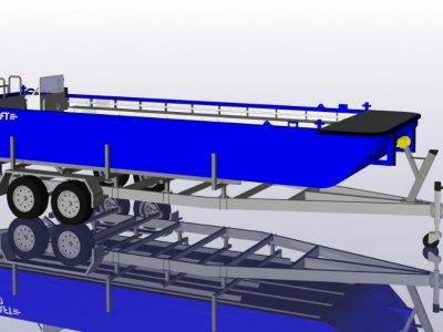 Sabrecraft Marine WB7400 Fish Farm Oyster Farm Work Boat Punt - CE Approved