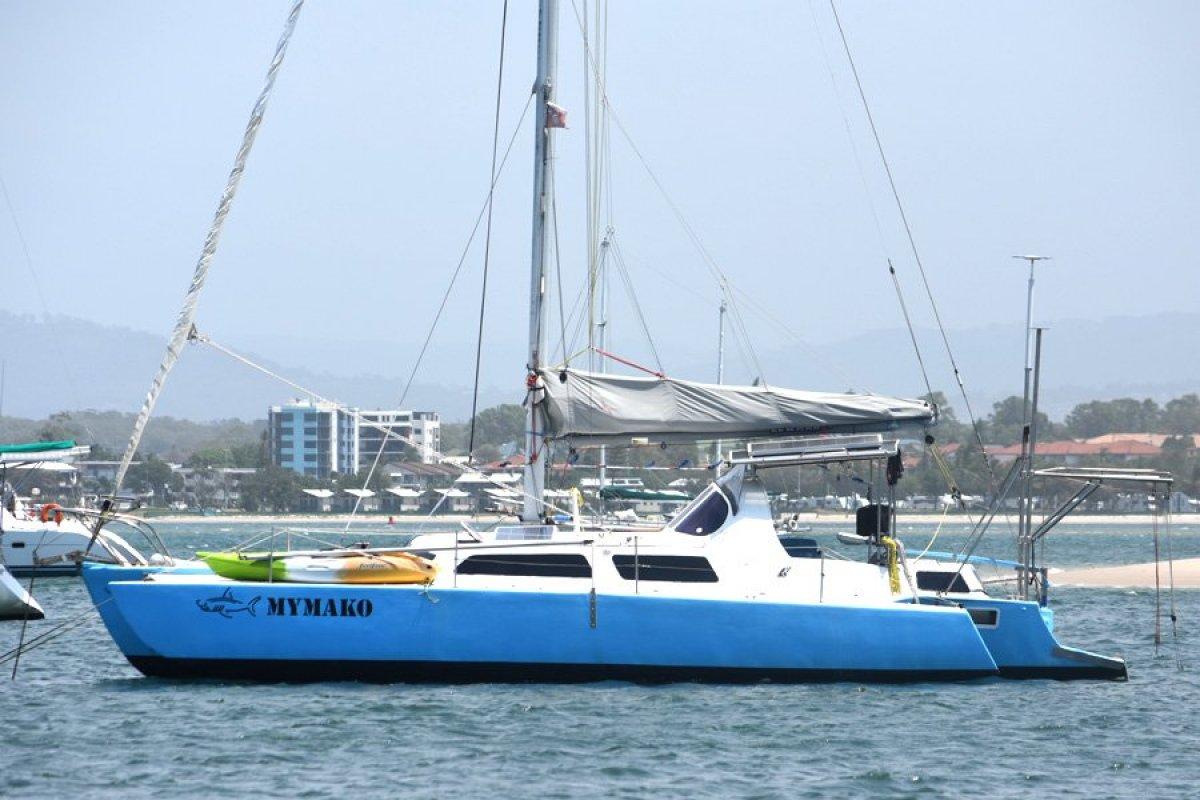 Norman Cross 39 Trimaran: Sailing Trimaran for Sale   Fibreglass/grp