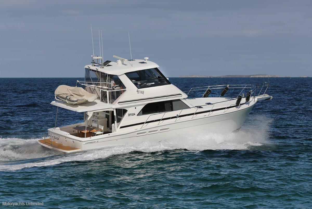 Caribbean 47 Flybridge Cruiser - Well equipped for long coastal runs