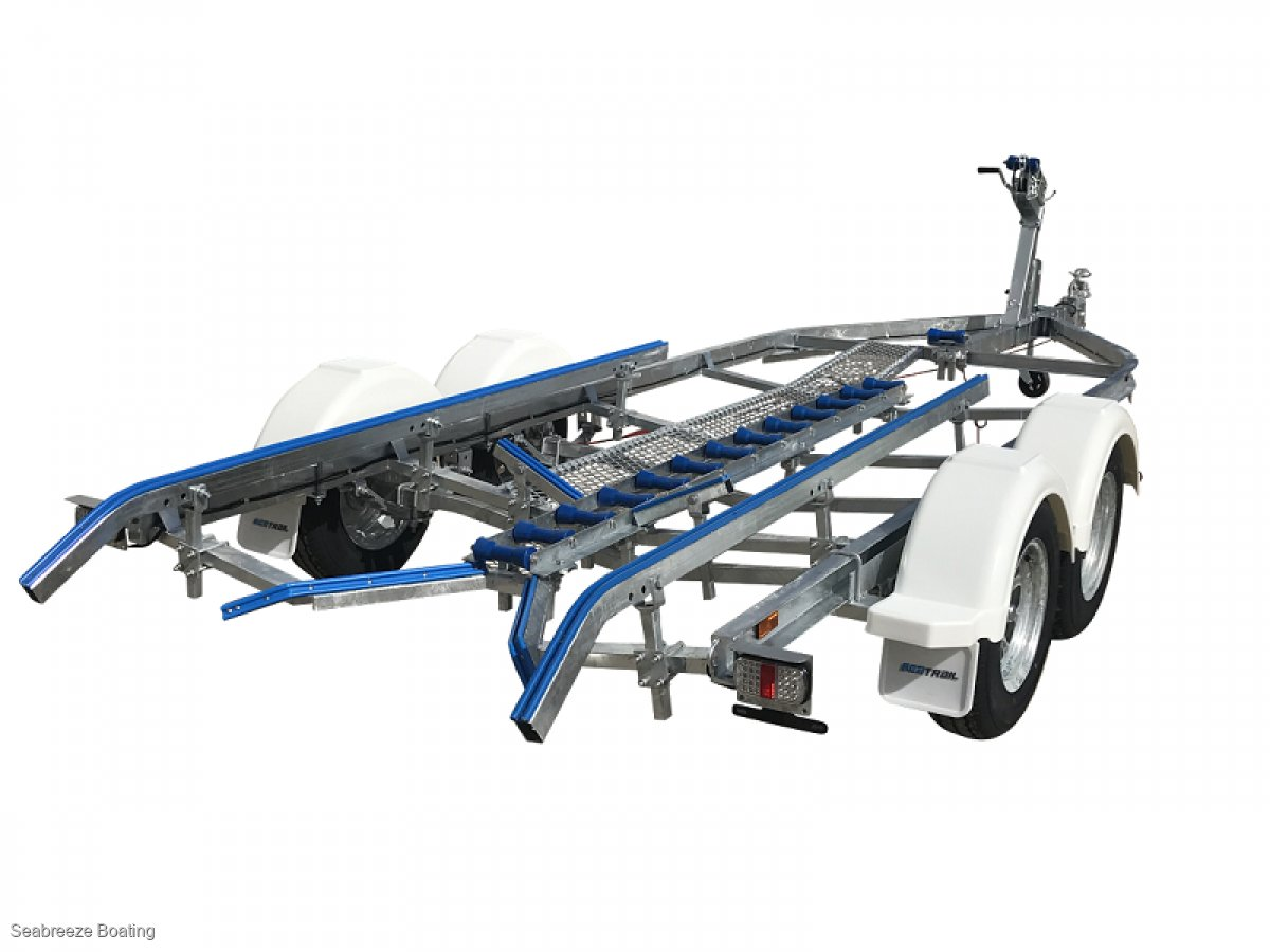 Boat trailer Galvanised C channel up to 6.1m boat Tandem axle