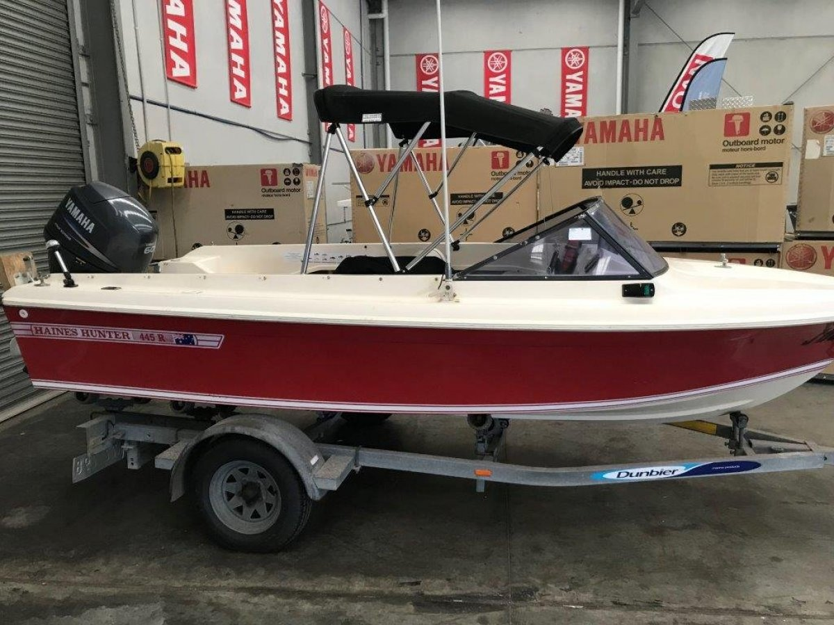 Haines Hunter 445 R HAINES HUNTER 445R YAMAHA 60HP 4 STROKE only 42hrs