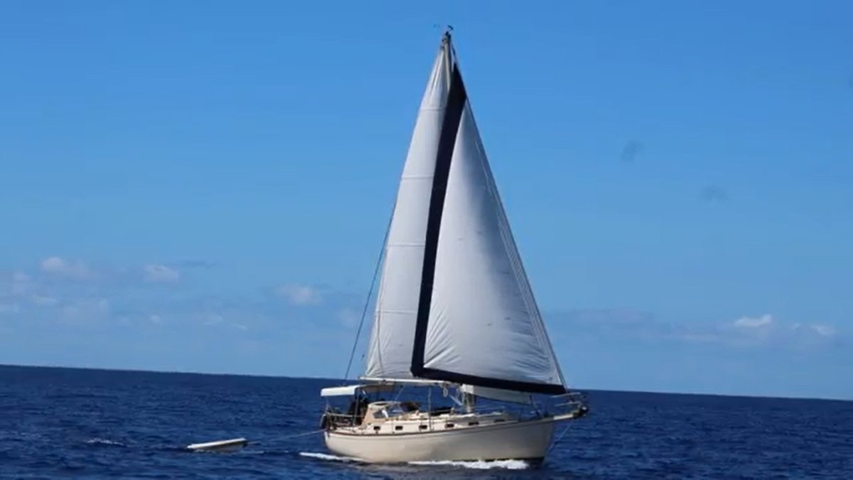 Island Packet 38 Cutter Serious offshore cruiser in turnkey condition.:Newish sails make a good shape