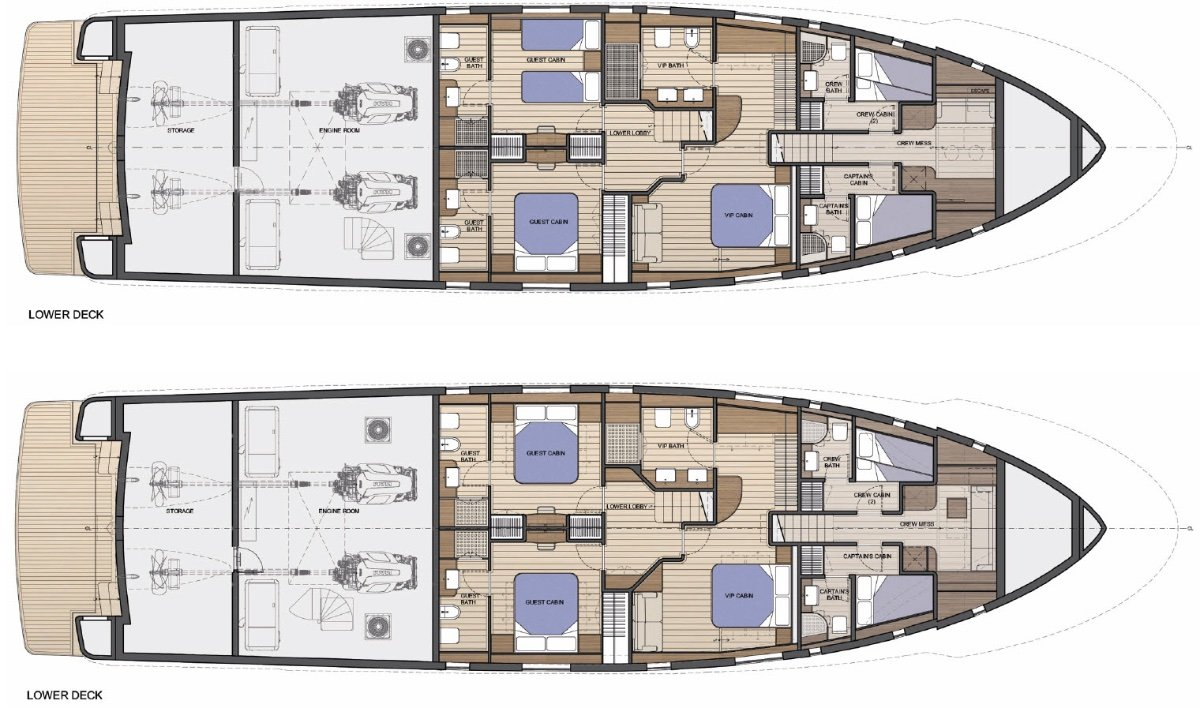 28mMotoryacht Expedition Style Long Range Cruiser