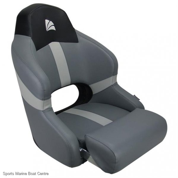 RELAXN Sports Bucket Seat Seat Grey/Grey/Black Carbon Upholstery