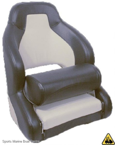 Heavy Duty Admiral Upholstered Helmsman Seat With Folding Bolster
