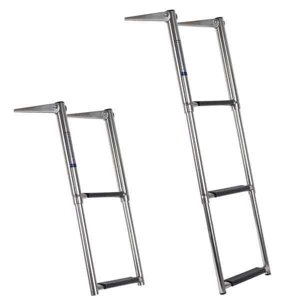 STAINLESS STEEL TELESCOPIC LADDERS - 2 AND 3 STEP- FROM $ 89.00