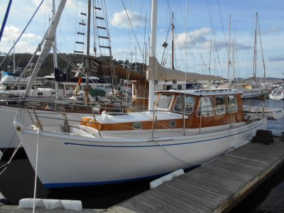 Pilothouse Motor Sailer TASMANIAN DESIGNED AND BUILT