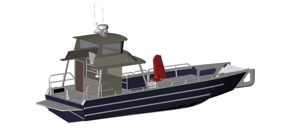 NEW BUILD - 10m Landing Craft with raised helm sta