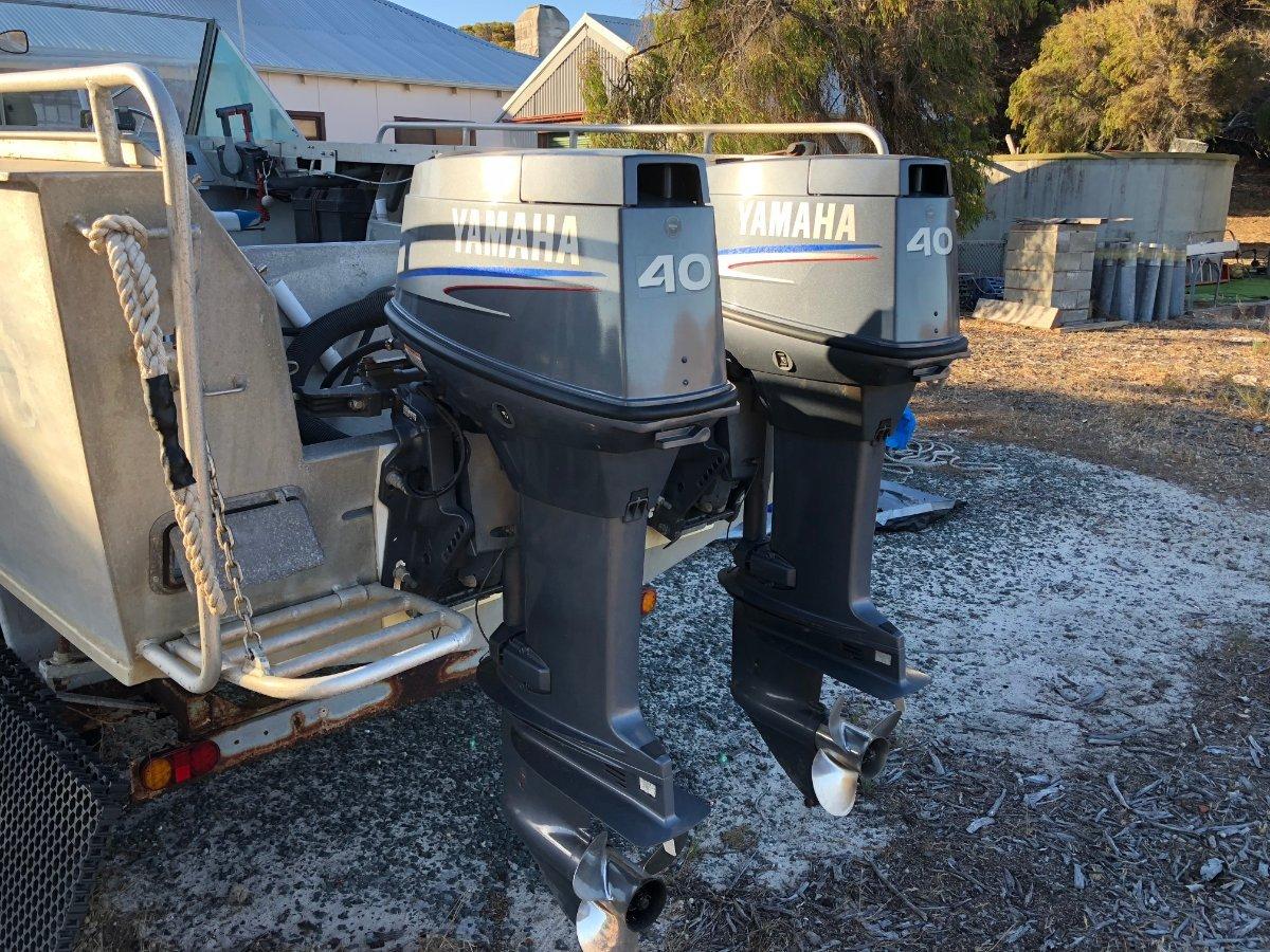Trailcraft Runabout Boat Trailcraft Plate Ali Twin Yamaha