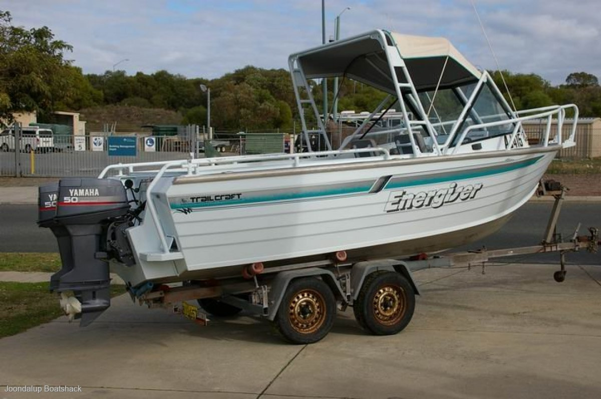 Trailcraft 580 Runabout Plate Alloy Dual 50hp Yamahas