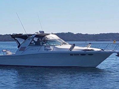 Sea Ray 375 Amberjack - Twin Diesel**Shaft Drive**Wide Body Cruiser