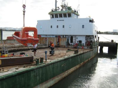 Working Cargo Barge