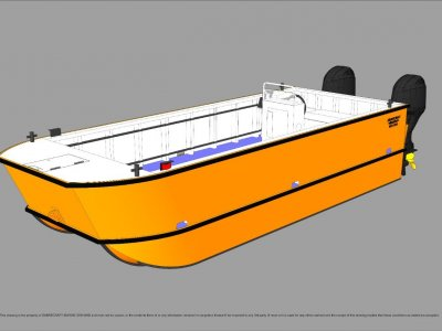 Sabrecraft Marine WBC5900 Catamaran Workboat Work Boat Punt