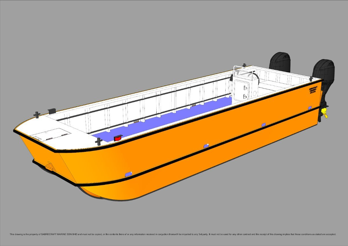 Sabrecraft Marine WBC7400 Catamaran Workboat Work Boat Punt