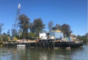 50.89m Piling Barge