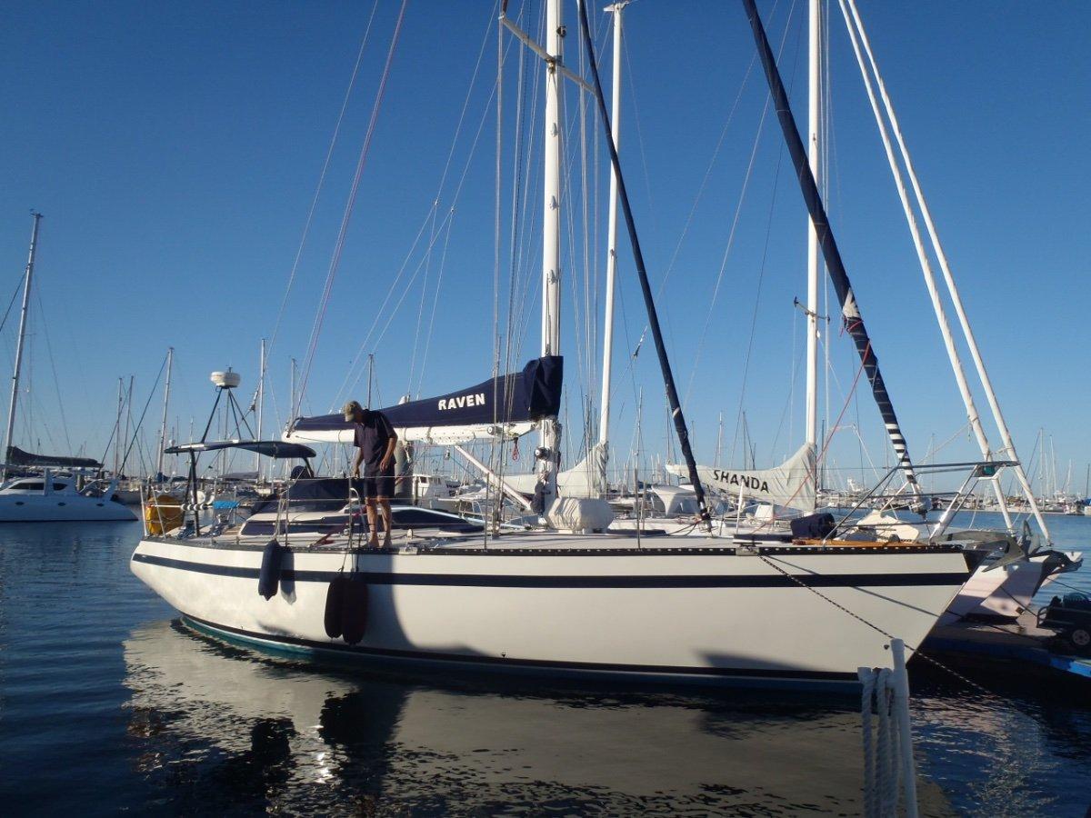 Lexcen 43:SV Raven at Wynnum Manly Yacht Club Brisbane