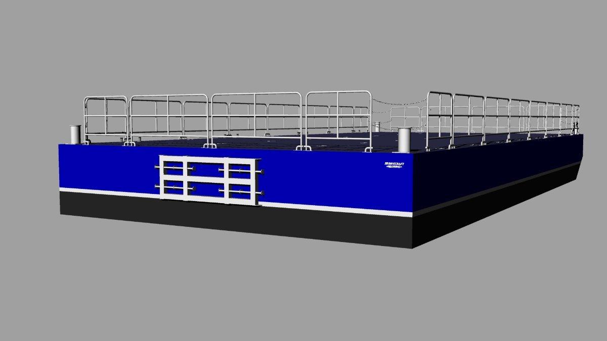 New Sabrecraft Marine Aluminium Sectional Barge Deck Barge